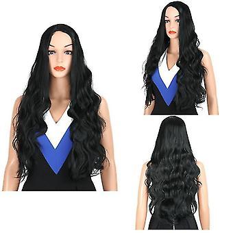 Long Wavy Wig For Ladies(Black)