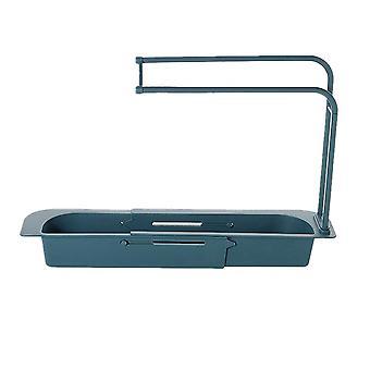 Telescopic Sink Kitchen Drainer Rack Storage Basket Bag Faucet Holder Adjustable Bathroom Holder