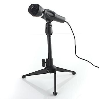 Mesa de escritorio micrófono de trípode metálico ajustable Soporte de micrófono con clip