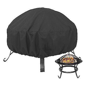420D Oxford kangas pyöreä palokuopan kansi, ulkona grilli liesi kansi (122 * 122 * 46cm)