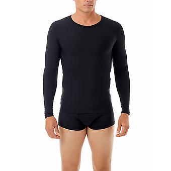 Underworks Microfiber Compression Crew Neck T-shirt with Long Sleeves