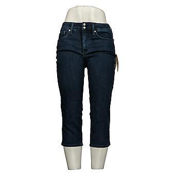 NYDJ Women's Petite Jeans Cool Embrace Skinny Crop w/ Side Slits Blue A377692