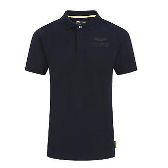 Aston Martin Official Driver Lance Stroll Polo Shirt (Navy)