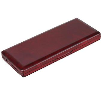 Woodwind reed cases wooden bassoon reed box for 10 reeds hold close with magnet mahogany color