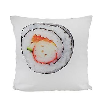 18 в. Декоративная подушка суши ролл и краб