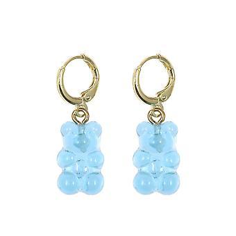 Gemshine Ohrringe 925 Silber vergoldet Gummibärchen in blau - Made in Spain