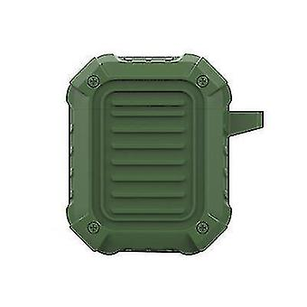 Speaker bags  covers cases hard silicone protective shell for airpods with hook 4.8*2.7*6Cm army green