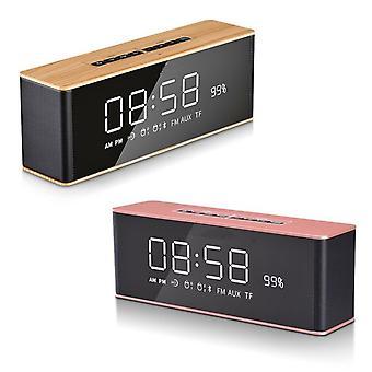 Réveil numérique avec haut-parleur radio Bluetooth et écran miroir