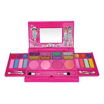 Kinder Mädchen Prinzessin Glitzer Lidschatten Lippenstift Make-up Set Spielzeug