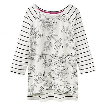 Joules Polly Woven Jersey Mix Ladies Top (V)