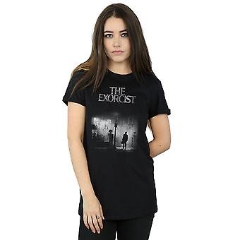 The Exorcist Women's Mono Distressed Poster Boyfriend Fit T-Shirt