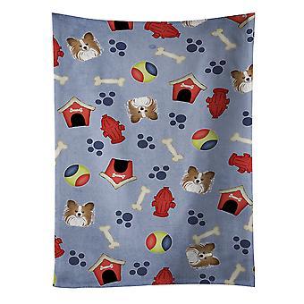 Carolines Treasures  BB4027KTWL Dog House Collection Papillon Kitchen Towel