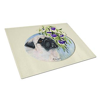 Carolines Treasures  SS8064LCB Pug Glass Cutting Board Large