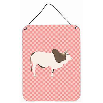 Malvi vache rose cocher mur ou une porte suspendue imprime