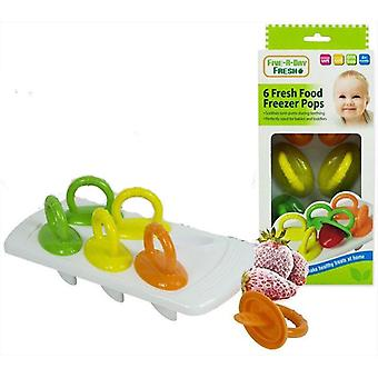 Five A Day 6 Fresh Food Freezer Pops 6m+