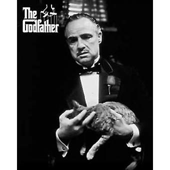 Godfather - Cat Bw Poster Poster Print