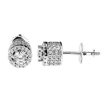 925 sterling sølv MICRO bane øreringe - høj 8 mm
