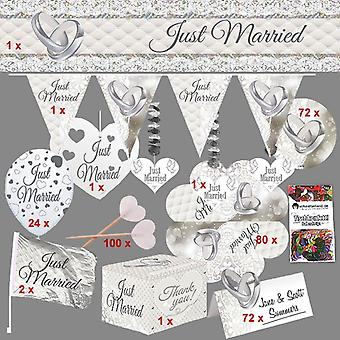 Wedding decoration box XL deluxe 362 pieces for 72 guests wedding decor party package wedding box