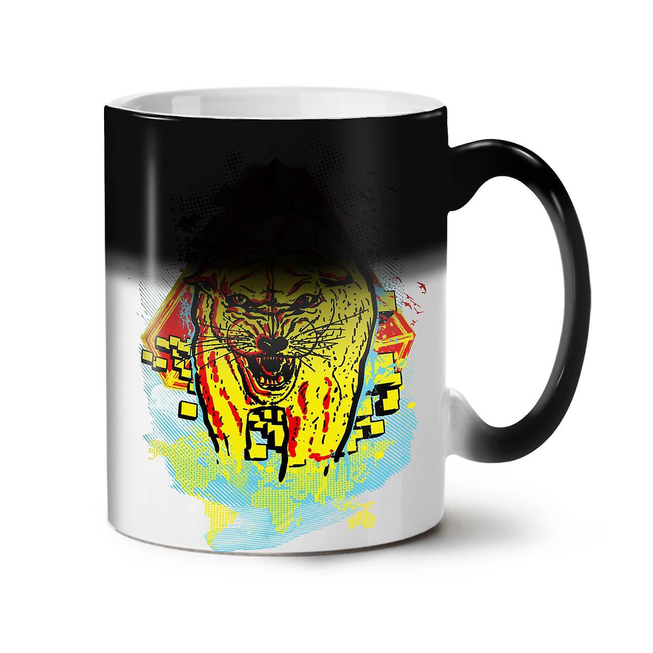 Beast Animal Tiger Wild NEW Black Colour Changing Tea Coffee Ceramic Mug 11 oz   Wellcoda