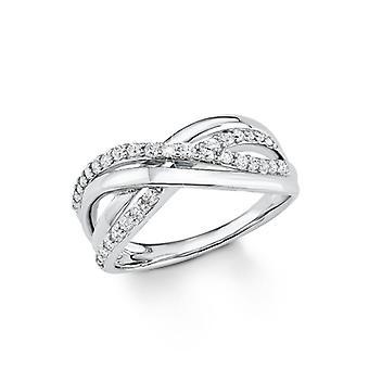 s.Oliver juvel damer ring sølv cubic zirconia SO1135