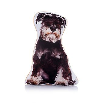 Adorable schnauzer shaped midi cushion