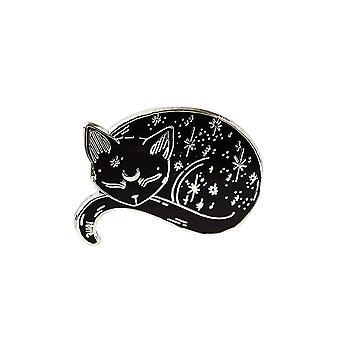 Punky Pins Mystical Cat Enamel Pin Badge