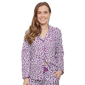Cyberjammies 3827 Damen Fiona Pink Animal Print Pyjama Pyjama Top