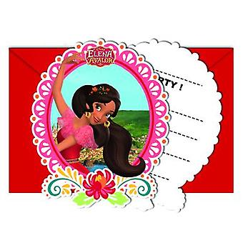 Elena of Avalor Caribbean party invitation cards 6 piece children birthday theme party