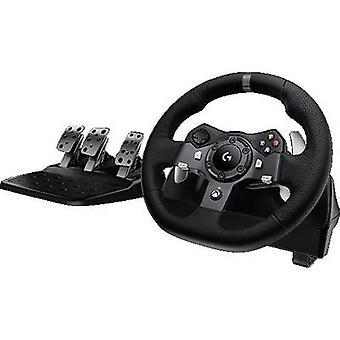 Logitech Gaming G920 Driving Force Racing Wheel Steering hjul PC, Xbox én sort