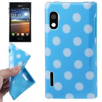 Suojaava tapauksessa TPU kohdan tapauksessa mobile LG Optimus L5 / E610 valkoinen