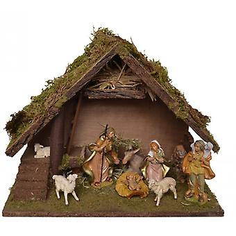 Crib MAGDA wooden crib Nativity Christmas Nativity stable