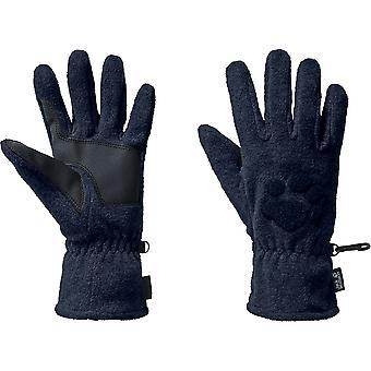 Pata de Gato Wolfskin para hombre bordado invierno guantes de paño grueso y suave
