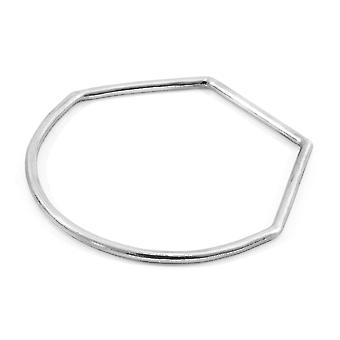 Rowe Half Circle Geometric Silver Bangle
