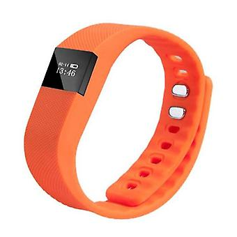 Stuff Certified® Original TW64 Smart Band Fitness Sports Activity Tracker Smartwatch Watch OLED Smartphone iOS iPhone Android Samsung Huawei Orange