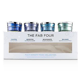 Fab fire multi-benefit maske kollektion: mirakel maske + Radiance Mask + foryngende maske + balancerings maske-4stk