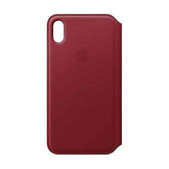 Apple iPhone XS Max Leather Folio - (PRODUCT) RED