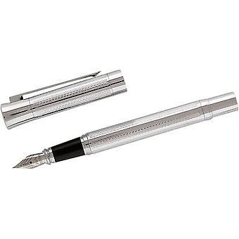 ديفيد فإن هاغن الفضة مطلي منقوشة قلم حبر-الفضة