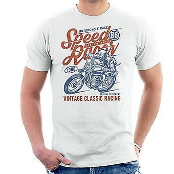 Speedway moto corrida t-shirt dos homens