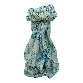 Mulberry Silk Contemporary Quadrat Schal Kittur Blue von Pashmina & Seide