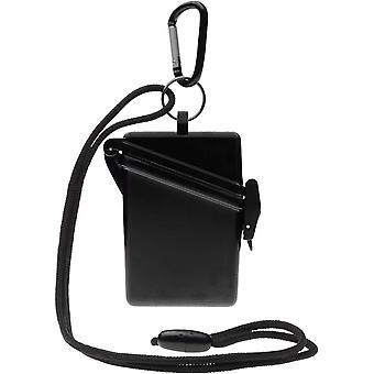 Witz Surfsafe lichtgewicht waterdichte Sport Case w / Lanyard & Carabiner - zwart