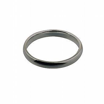 18 quilates de oro blanco 3mm liso corte en forma de anillo de boda tamaño Z