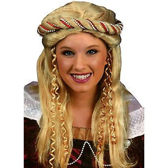 Renessanssin blondi peruukki aikuisille