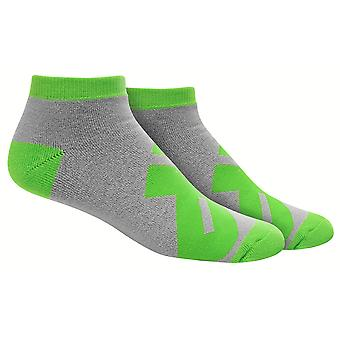 MusclePharm MP Low Cut Socks - Gray/Green - gym fitness training