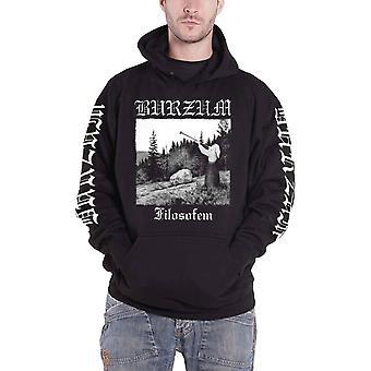 Burzum Hoodie Filosofem Band Logo new Official Mens Black Pullover