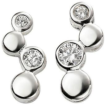 Beginnings Bubble Cubic Zirconia Earrings - Silver