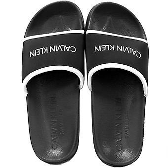 Calvin Klein Neo pluss Logo bassenget glidere, svart