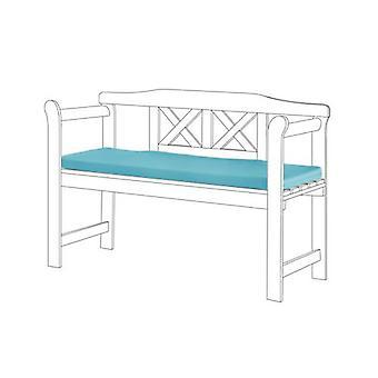 Gardenista® cuscino di seduta resistente all'acqua turchese per piccola panca 2 posti