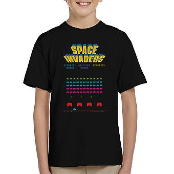 Space Invaders 1978 Arcade Game Play Kid's T-Shirt