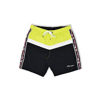 Champion Taped Beach Shorts (Yellow/White/Black)