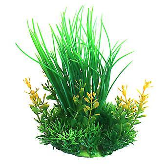 Betta Choice Green & Yellow Plastic Aquarium Plant